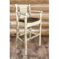 MWBSWCASVSADD Captain's Bar Stool w/ Back - Montana