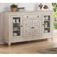 Brushed White Dining Server - Scottsdale Collection