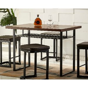 Nice ... Metal And Wood Counter Height Dining Table   Eli Collection