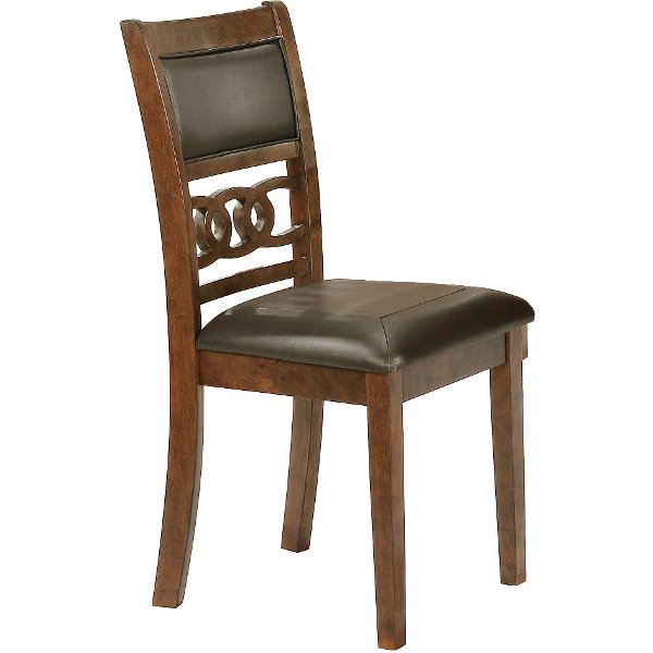 Caramel Dining Room Chair14999 Brown Traditional Chair Cally