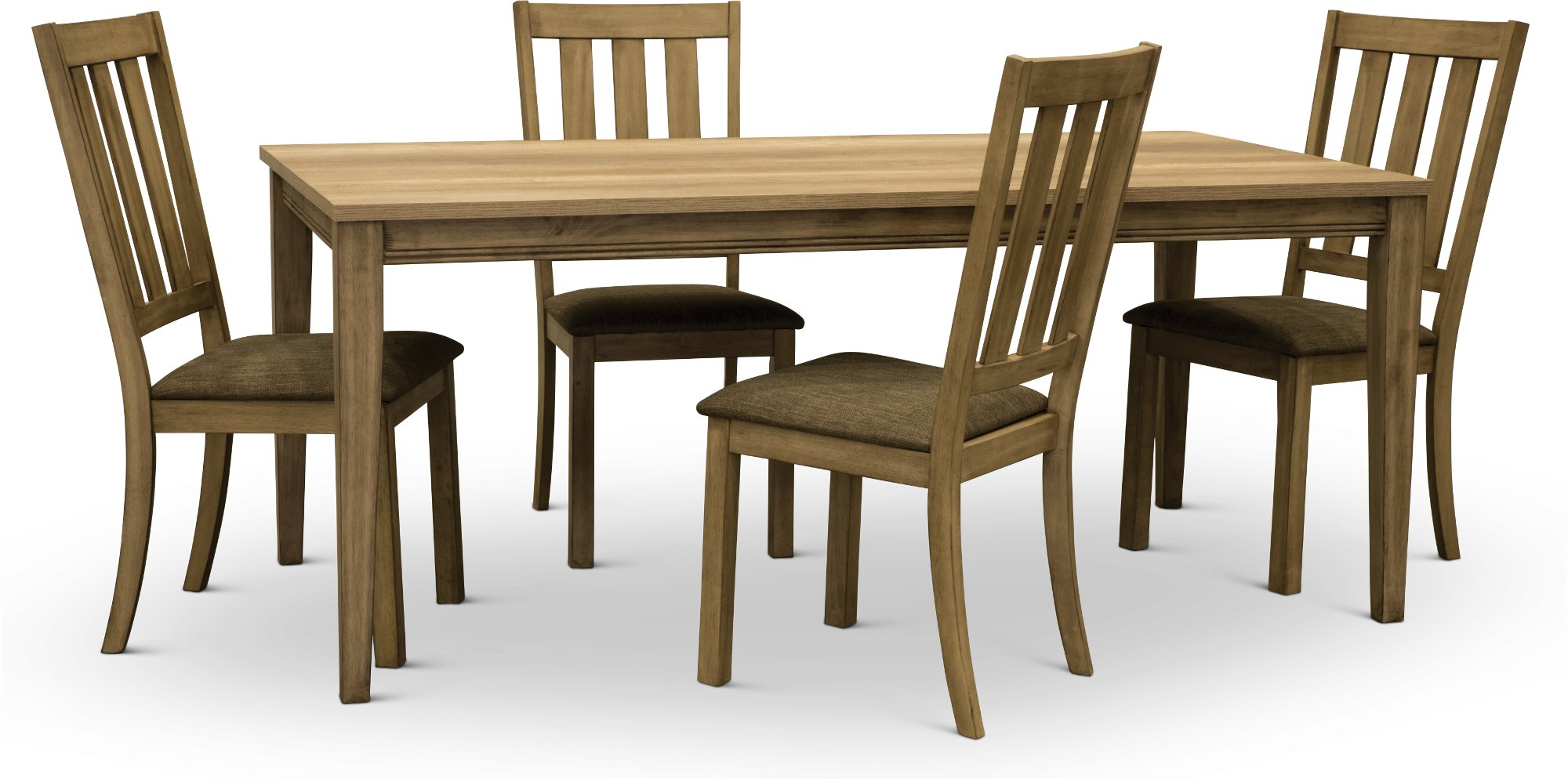 Sandstone Traditional 5 Piece Dining Set   Sun Valley