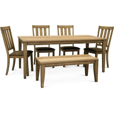 Sand Traditional 6 Piece Dining Set   Sun Valley