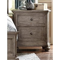 Traditional Gray Oak Nightstand - Lavonia