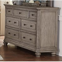Traditional Gray Oak Dresser - Lavonia