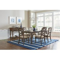 Cherry Traditional 5 Piece Dining Set - Larson Collection