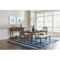 Cherry Traditional 6-Piece Dining Set - Larson Collection