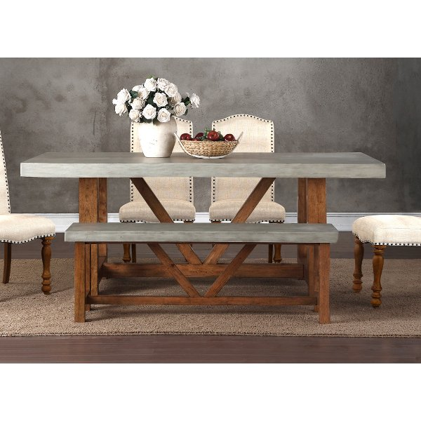 Merveilleux Clearance Faux Cement Dining Table   Bohemian