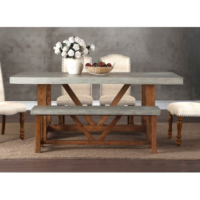 Faux Cement Dining Table   Bohemian