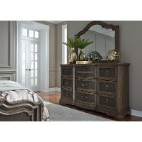 Traditional Chestnut Brown Dresser - Valley Springs