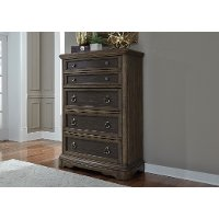 Traditional Chestnut Brown Chest of Drawers - Valley Springs