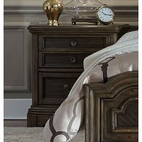 Traditional Chestnut Brown Nightstand - Valley Springs