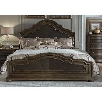 Clearance Traditional Chestnut Brown Queen Size Bed - Valley Springs