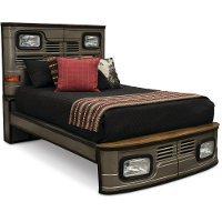 Truck Silver Twin Metal Bed - Highway