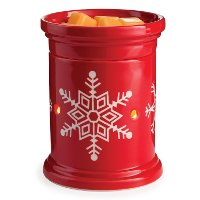 Red and White Snowflake Illumination Fragrance Warmer - Candle Warmers