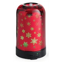 SDFLK Red Glass Snowflake Airome Ultrasonic Oil Diffuser - Candle Warmers