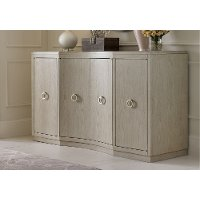 Shadow Gray Contemporary Dining Credenza - Cinema