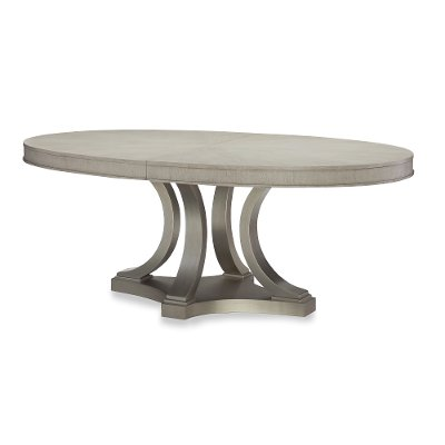 Shadow Gray Contemporary Oval Dining Table - Cinema