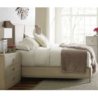 Rachael Ray Home Queen Upholstered Shelter Bed - Cinema