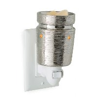 Brushed Chrome Pluggable Fragrance Warmer - Candle Warmers