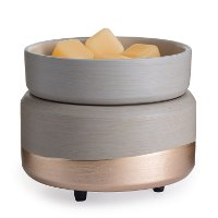 CWDMID Gray and Gold 2-in-1 Fragrance Warmer - Candle Warmers