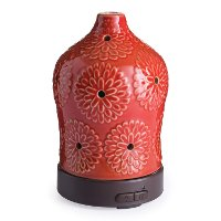 Orange-Red Lotus Airome Ultrasonic Oil Diffuser - Candle Warmer