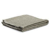 Ivory and Gray Waffle Boulder Throw Blanket