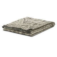 Gray and Ivory Paisley Boulder Throw