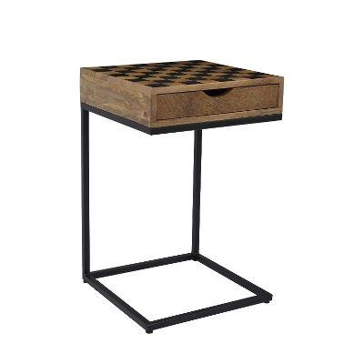 Checkerboard C Shaped Table   Global Archive