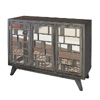 Driftwood 3 Door Mirrored Mid Mode Console