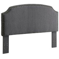 IDF-7880GY-HB-FQ Gray Upholstered Full/Queen Headboard - Mira