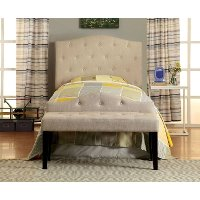 IDF-7989IV-HB-T Ivory Upholstered Twin Headboard - Venice