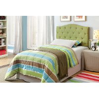 IDF-7989GR-HB-T Green Tufted Upholstered Twin Headboard - Venice