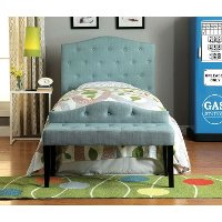 IDF-7989BL-HB-T Blue Tufted Upholstered Twin Headboard - Venice