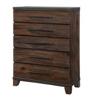Modern Rustic Brown Chest of Drawers - Forge