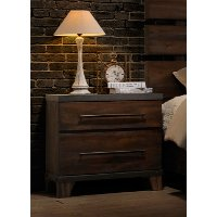 Modern Rustic Brown Nightstand - Forge
