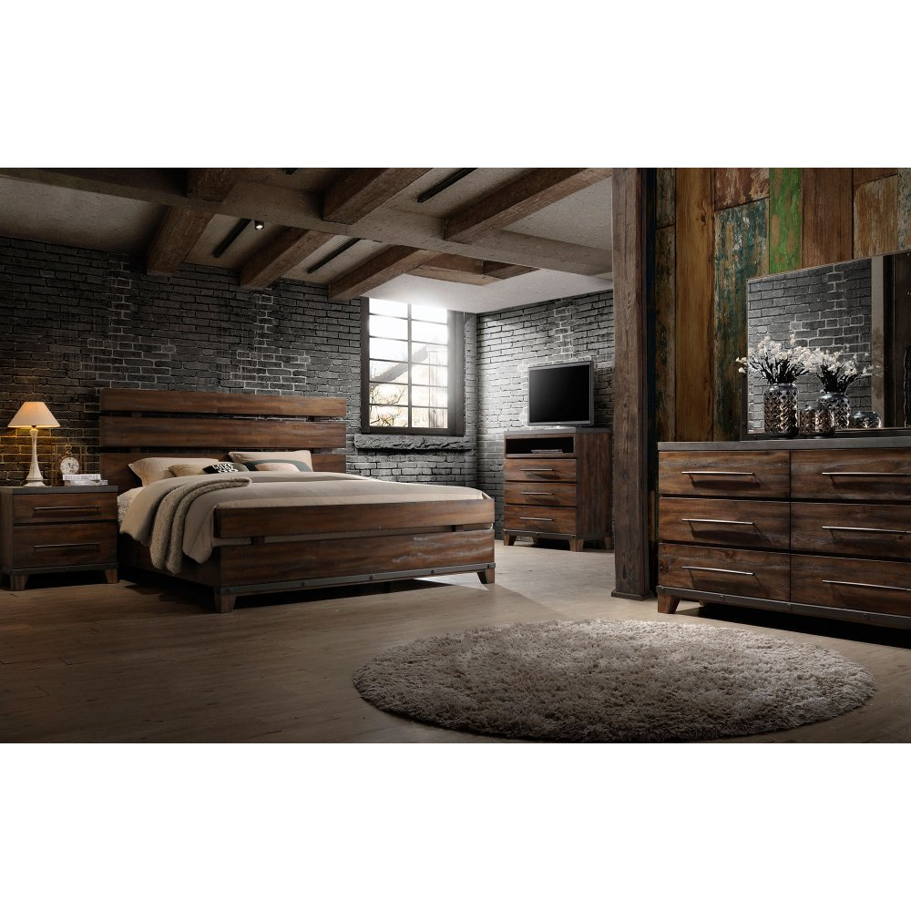 Modern Rustic Brown 4 Piece King Bedroom Set   Forge | RC Willey Furniture  Store