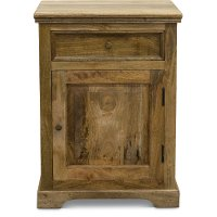 Rustic Natural Nightstand - Thurston