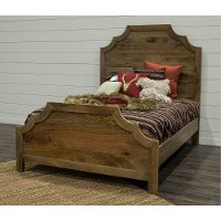 Rustic Natural Queen Bed - Thurston