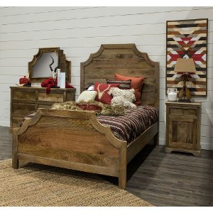 Rustic Natural 6 Piece King Bedroom Set Thurston size bed king frame bedroom sets RC Willey