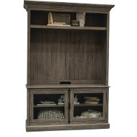 Washed Gray 2 Piece Modern Entertainment Center - Dovetail