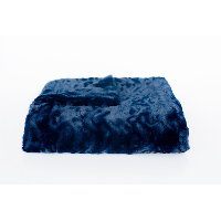 Midnight Blue Wave Home Throw Blanket