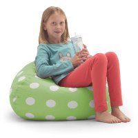 0630252 Big Joe Classic Bean Bag Chartreuse with White Dots (88 Inch) - Classic