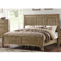 Classic Weathered Pine Queen Size Bed - Interlude II