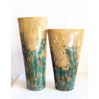 27 Inch Cobalt and Turquoise Pottery Planter