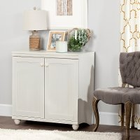 10313 White Wash Two-Door Storage Cabinet - Hopedale
