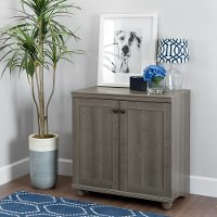 10323 Gray Maple Two-Door Storage Cabinet - Hopedale