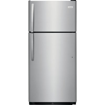 FFTR1821TS Frigidaire 18.0 cu. ft. Top Freezer Refrigerator - 30 Inch Stainless Steel