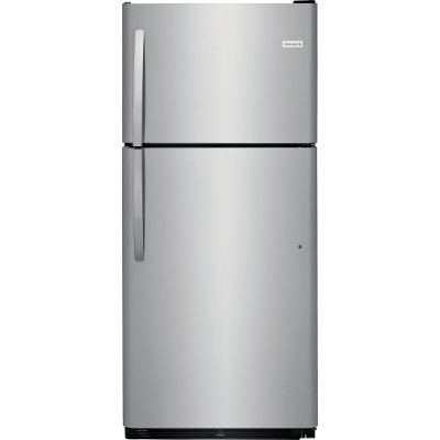 FFTR2021TS Frigidaire Top Freezer Refrigerator 20 cu. ft. - 30 Inch Stainless Steel
