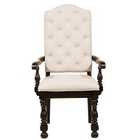 Smoked Molasses Upholstered Dining Arm Chair - Caldwell