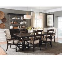 Smoked Molasses Traditional 7 Piece Dining Set - Caldwell